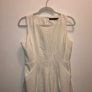 White cocktail casual dress